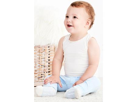 Boody Baby Singlet Chalk 6-12m 0