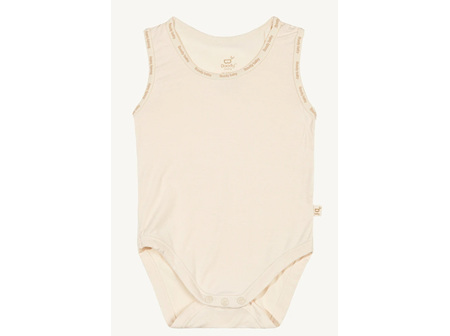 Boody Baby Sleeveless Bodysuit Chalk Newborn 0000