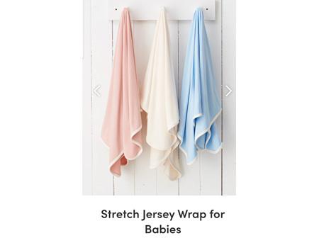 Boody Baby Stretch Jersey Wrap Chalk OS