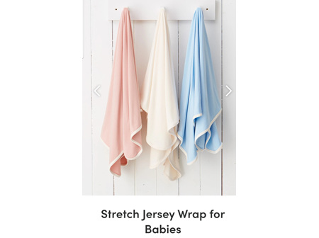Boody Baby Stretch Jersey Wrap Rose OS