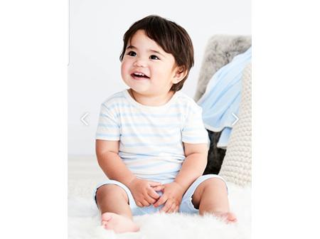 Boody Baby TShirt Sky Stripe 3-6m