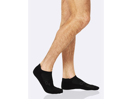 BOODY Men's Active Sport Sock - Black Size 6-11