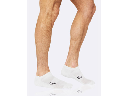 BOODY Men's Active Sport Sock - White Size 6-11