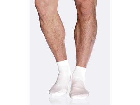 BOODY Men's Cushioned Sport Ankle Sock - White Size 6-11