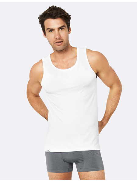Boody mens singlet white large