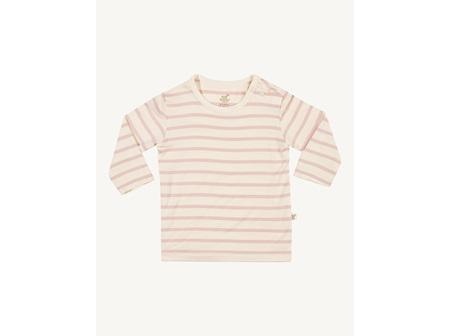BOODY Top L/Sleeve Rose Stripe 6-12mths