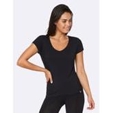 BOODY Women V-Neck T-Shirt Black L