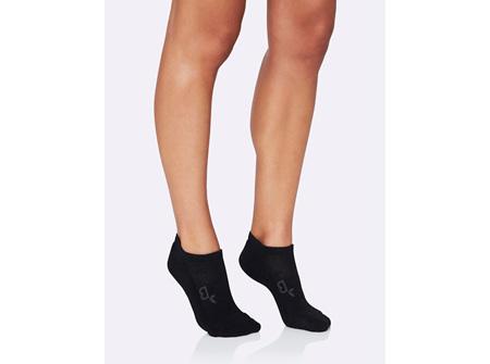 BOODY Women's Active Sport Sock - Black Size 3-9