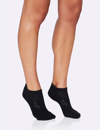 BOODY Women's Active Sport Sock - Black Size 3-9