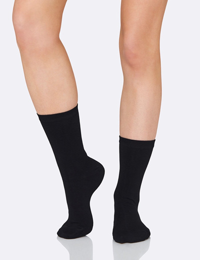BOODY Women's Everyday Sock - Black Size 3-9