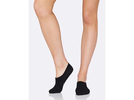 BOODY Women's Hidden Sock - Black Size 3-9