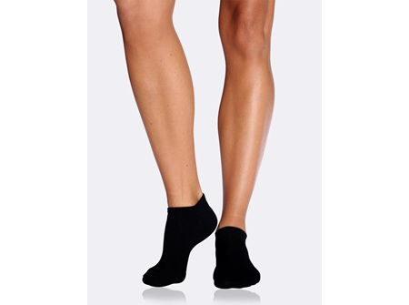 BOODY Women's Low Cut Sock - Black Size 3-9