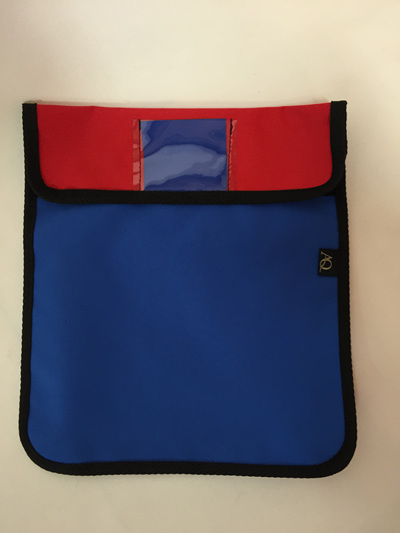 Book bag - blue and red