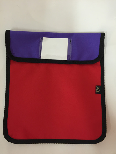 Book bag - red/purple/sailcloth