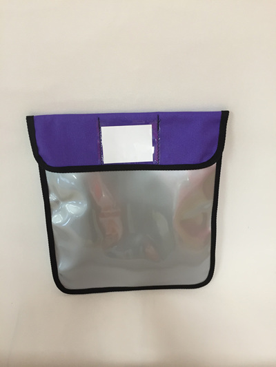 Book bag - silver/purple
