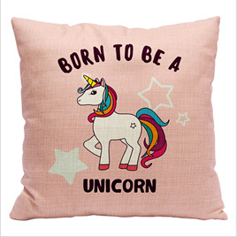 Born to be a Unicorn Woven Cushion Cover