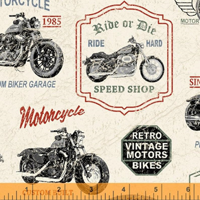 Born to Ride - Vintage Motorcycle
