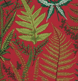 Botanical Ferns Red PWSL003103