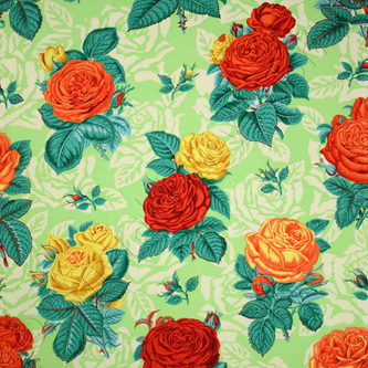 Botanical Roses Green - PWSL001102
