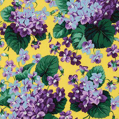 Botanical Violets Yellow PWSL002104