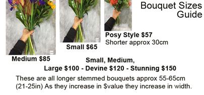 Bouquet size guide
