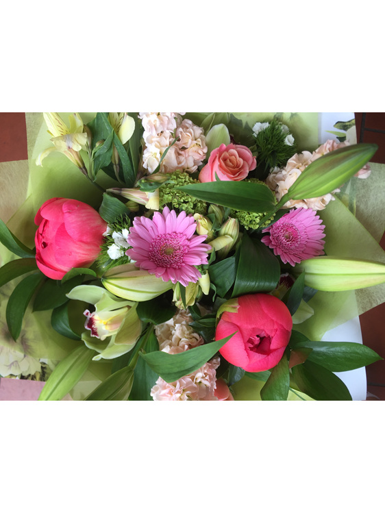 Bouquet with beautiful pink peonies delivery to Mt Albert and Auckland suburbs w