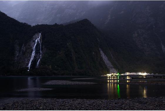 Bowen Falls, Deep Water Basin,  Milford Sound