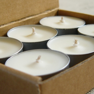 Box 6 passion scented soy tealight candles