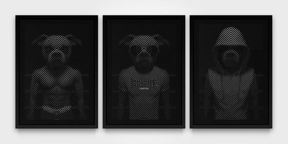 Boxer Boxer - Triptych