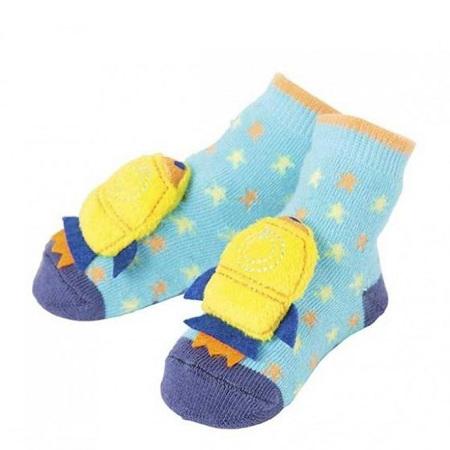 Boy Rocket Rattle Socks