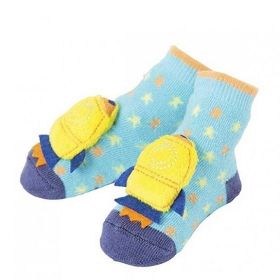 Boy Rocket Rattle Socks