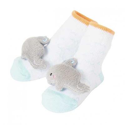 Boy Whale Rattle Socks