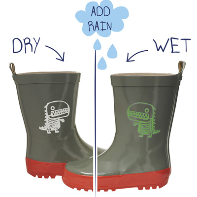Boys Colour Changing Dino Gumboots