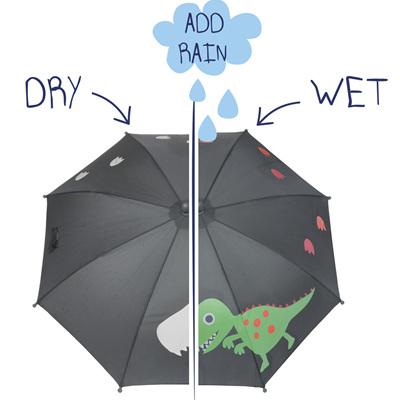 Boys Colour Changing Dino Umbrella