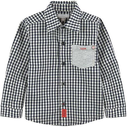 Boys Navy check shirt