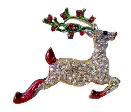 BR13 Reindeer Brooch