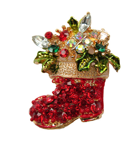 BR16 Christmas Stocking Brooch