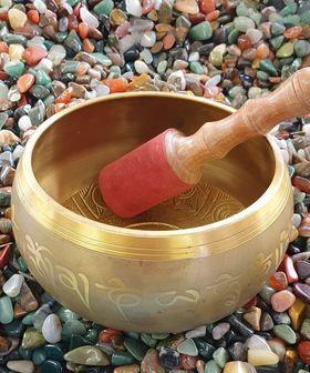 Brass Buddha Gold Singing Bowl 17cm