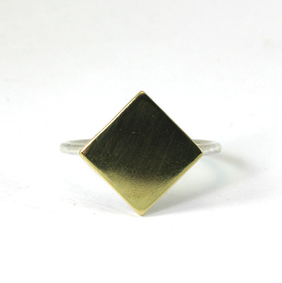 Brass Diamond Ring