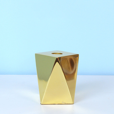 Geometric Brass Candleholder