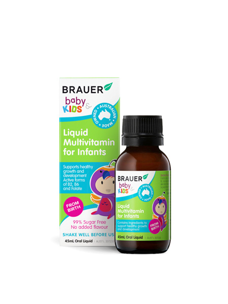 Brauer Baby & Kids Liquid Multivitamins 45ml