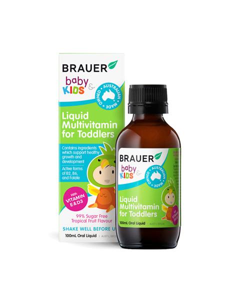 Brauer Baby & Kids Liquid Multivitamins for Toddlers 100ml