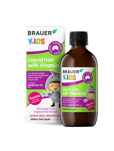 Brauer Kids Liquid Iron with Vit B 200ml