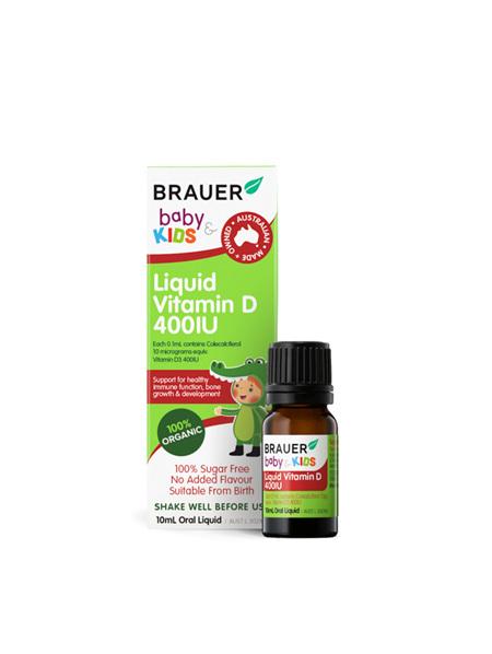 Brauer Kids Liquid Vitamin D 400IU 10ml