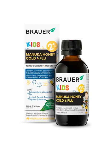 Brauer Kids Manuka Honey Cold and Flu 100ml