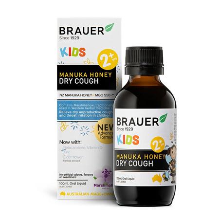 Brauer Kids Manuka Honey Dry Cough 100mL