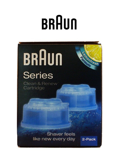 Braun Shaver Clean and Renew 2pk