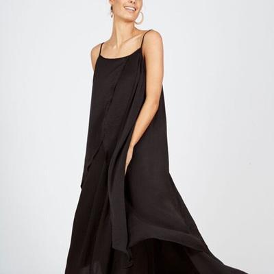 BRAVE AND TRUE DESTINATION DRESS IN BLACK