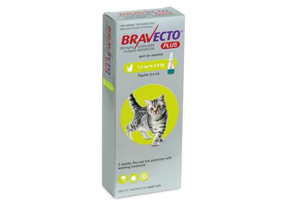 Bravecto Spot On PLUS for Cats