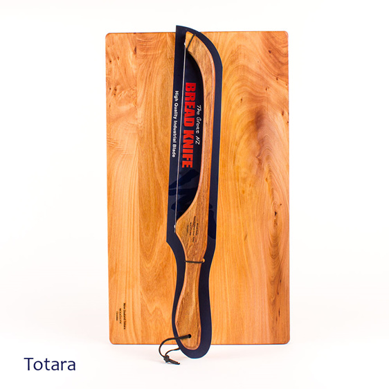 bread knife and board set - made from totara